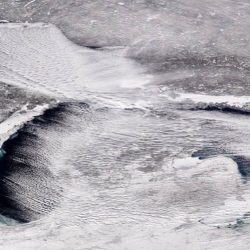 Cloud streets over the Great Lakes in this Jan. 27, 2019 image.NOAA, NOAA Environmental Visualization Laboratory