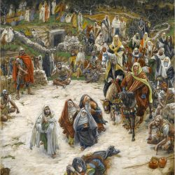 Crucifixion, seen from the Cross by James Tissot - Online Collection of Brooklyn Museum, c. 1890. (Brooklyn Museum, 2008)