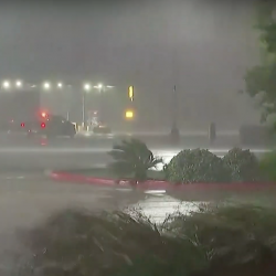 Hurricane Laura makes landfall at Louisiana with 150mph winds and 'unsurvivable' surge