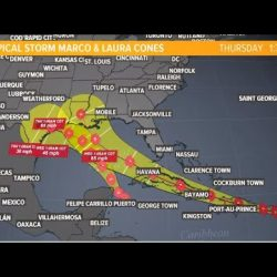 Tropical Storms Marco and Laura Both Headed to the Gulf of Mexico
