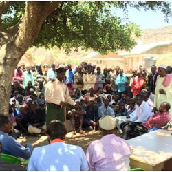 United Nations Population Fund (UNFPA) and private sector representatives in Mandera county in Northern Kenya to develop solutions with the community and the county government. (Image by Ilija Gudnitz Weber)
