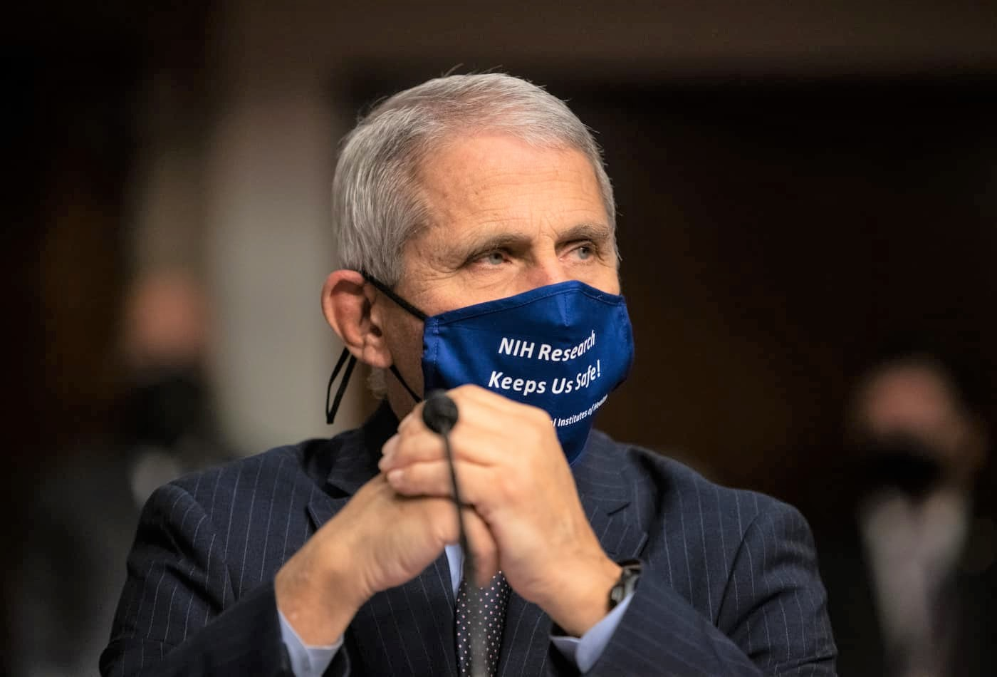 Anthony Fauci, director of the National Institute of Allergy and Infectious Diseases, sits ahead of a Senate Health Education Labor and Pensions Committee hearing in Washington, D.C., U.S., on Wednesday, Sept. 23, 2020