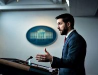 National Economic Council Director Brian Deese speaks at the White House on Jan. 22. (Jabin Botsford/The Washington Post)