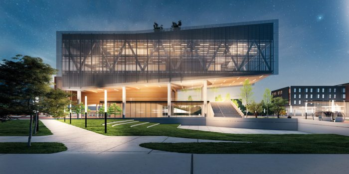 The Propel Center (rendering by Apple)  a community of hub that will provide curriculum, internships, and mentorship opportunities