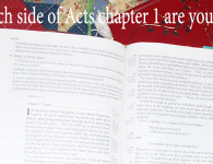 Which side of Acts chapter 1 are you on?